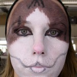 Makeup from my Theatrical Makeup class. It's my cat, Blaze.
