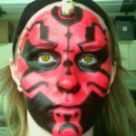 Darth Maul makeup. I Photoshopped the eyes for giggles.
